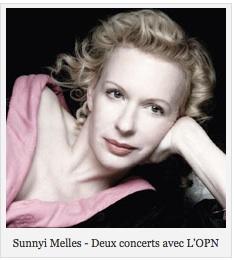 Sunnyi Melles : Deux concerts avec L'OPN