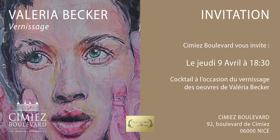 Valeria Becker Vernissage Invitation