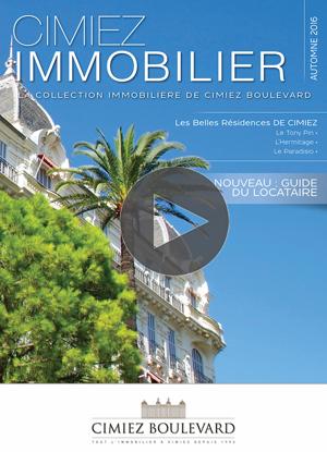 Immobilier : le Cimiez Magazine Automne 2016 est en ligne