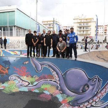 Art graph au skatepark Nice-Nord