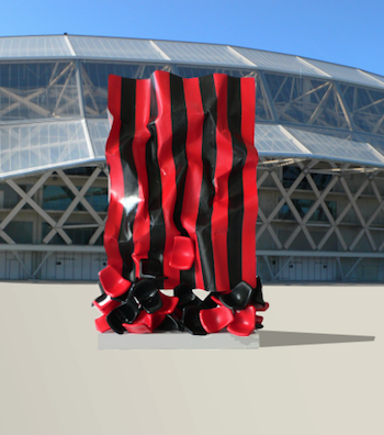 Stade du Ray : L'œuvre commémorative dévoilée