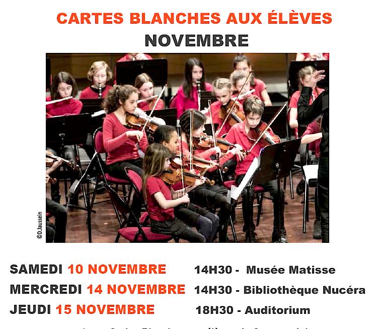 Les « Cartes Blanches » du Conservatoire